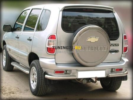 "Chevrolet Niva 2002-2008 г.в.-Защита заднего бампера ""уголки"" d-43"